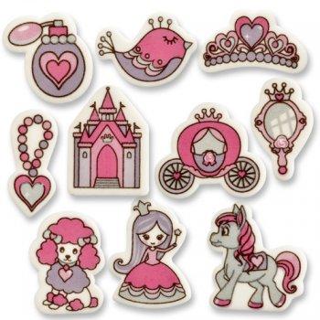 10 décors Princesse en sucre à plat