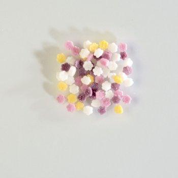 Mini Fleurs en sucre 50 gr