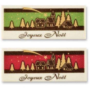 """2 Plaquettes """"Joyeux Noël"""" à Plat"""