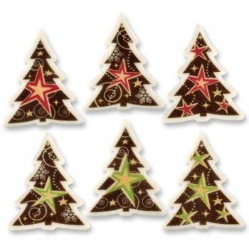 5 Plaquettes Sapins de Noël en sucre
