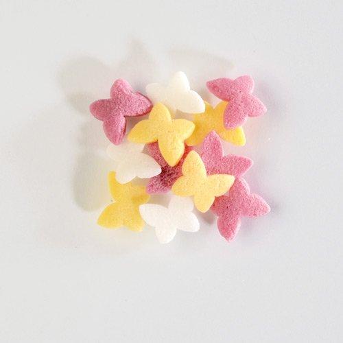 Confettis Papillons Colorés (7 mm - 50 g) - Sucre