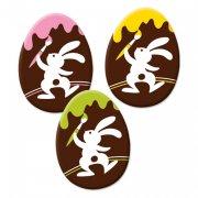 3 oeufs � plat en Chocolat Joyeux Lapin