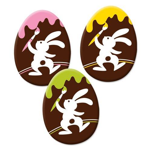 3 oeufs à plat en Chocolat Joyeux Lapin