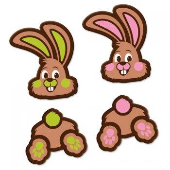2 Lapins en Chocolat Noir
