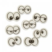8 paires de Yeux en sucre Cartoon