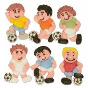 6 Footballeurs en sucre � plat