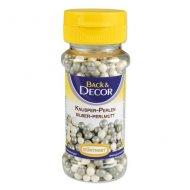 Perles Croustillantes Blanc/Argent nacré