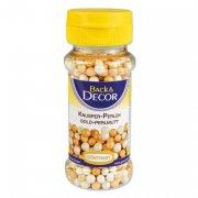 Perles Croustillantes Blanc/Or nacré