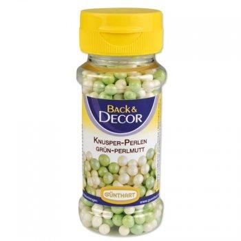 Perles Croustillantes Blanc/Vert nacré