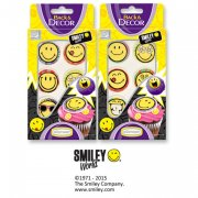 6 D�cors Smiley en sucre