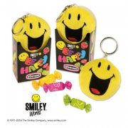 Porte Cl� Smiley Peluche avec bonbons