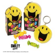 Porte Clé Smiley Peluche avec bonbons
