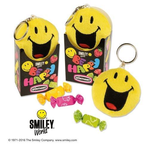 Porte Clé Smiley Peluche avec bonbons