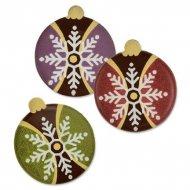 3 Boules Noël à Plat en Chocolat (3 cm)