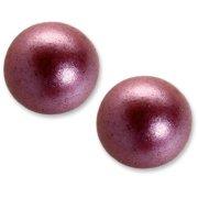 3 Boules en Chocolat Violet nacré (2 cm)