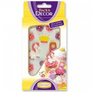 Figurines princesse sucre à plat