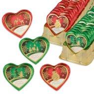 2 Coeurs  de Noël Chocolat Praliné (6,5 cm - 24 g)