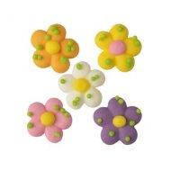 5 Mini Fleurs Primevères (1,5 cm) - Sucre