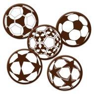 5 Pastilles Ballons de Foot (3 cm) - Chocolat Lait