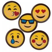 5 Emojis Chocolat (3 cm)