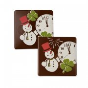 4 Carrés Nouvel An (3,5 cm) - Chocolat Noir
