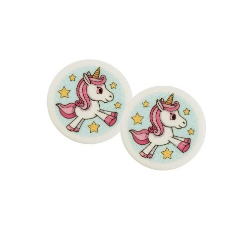 2 Mini Disques Licorne Chérie (4 cm) - Sucre