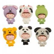 6 Kids Animaux Kawaïï 2D (3 cm) - Sucre
