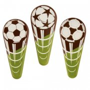 3 Pics Football (6 cm) - Chocolat au Lait