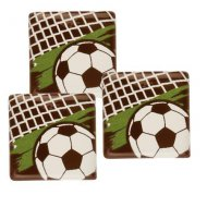 4 Carrés Football (3 cm) - Chocolat au Lait