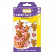 12 mini déco Bambi (3 cm) - Sucre