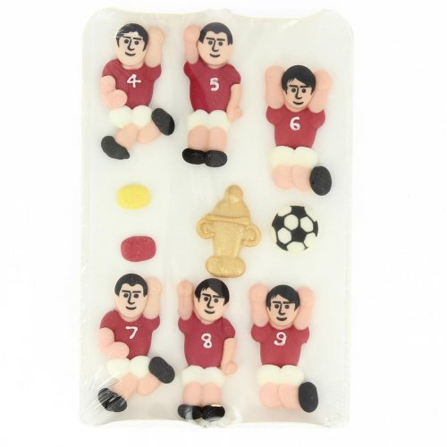 10 Deco Foot Equipe Rouge - Sucre