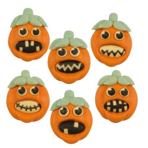 6 Décors Citrouilles Halloween 2D (3 cm) - Sucre