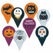 8 Pics Médaillons Halloween (6 cm) - Carton