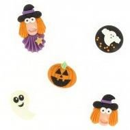 5 Décors Halloween Sorcière et Fantôme 2D - Sucre