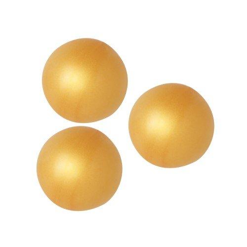 3 Boules 3D Chocolat Blanc - Or (2,2 cm)