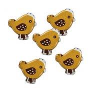 5 Mini Poussins à plat (2 cm) - Chocolat Noir