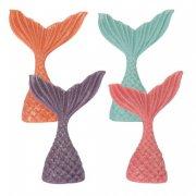 4 Queues de Sirène 2D (6,5 cm) - Pâte d'Amandes