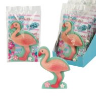 1 Grand Flamant Rose 2D (11 cm) - Pâte d'amandes