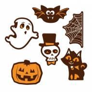 6 Décors Halloween - Chocolat Noir
