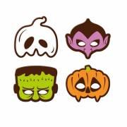 4 Masques Halloween - Chocolat Noir