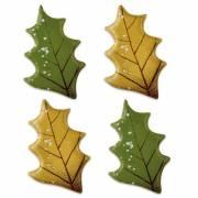 4 Feuilles de Houx (4 cm) - Chocolat Noir