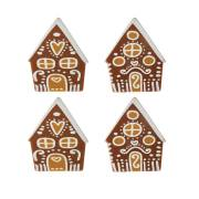 4 Maisonnettes (4 cm) - Chocolat au Lait