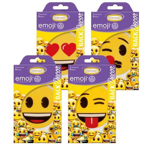 1 Grand Décor Emoji + 8 minis - Sucre