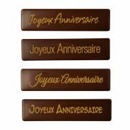 4 Plaquettes Joyeux Anniversaire - Chocolat au Lait