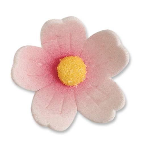 2 Fleurs Roses (4 cm)  - Sucre