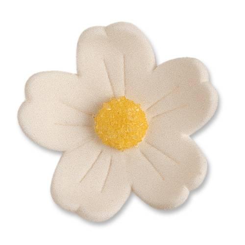 2 Fleurs Blanches (4 cm) - Sucre