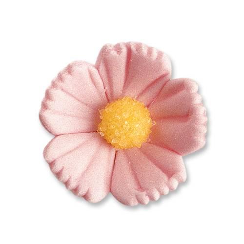 2 Fleurs Roses (3 cm)  - Sucre