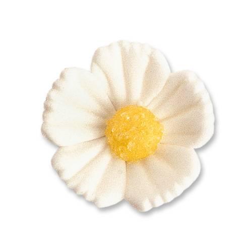 2 Fleurs Blanches (3 cm)  - Sucre