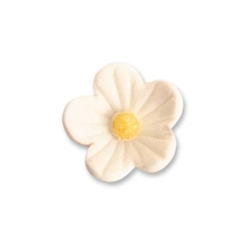 2 Petites Fleurs Blanches (2,5 cm)  - Sucre