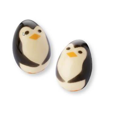 1 Pingouin 3D 3cm - Chocolat Blanc